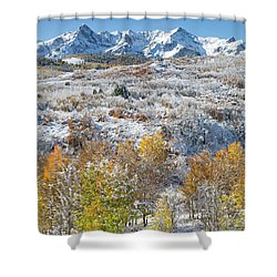 Dallas Divide In October Shower Curtain