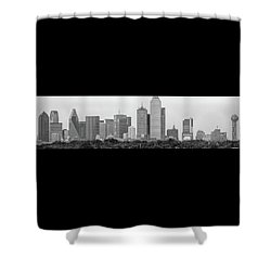 Shower Curtain featuring the photograph Dallas In Black And White by Jonathan Davison