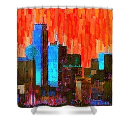 Dallas Skyline 61 - Pa Shower Curtain