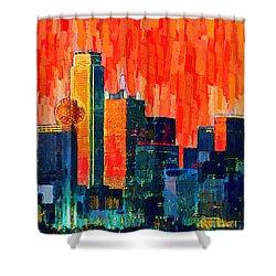 Dallas Skyline 68 - Da Shower Curtain