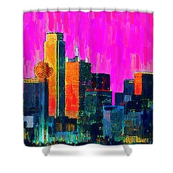 Dallas Skyline 70 - Pa Shower Curtain