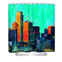 Dallas Skyline 74 - Pa Shower Curtain