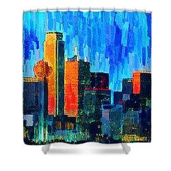 Dallas Skyline 76 - Pa Shower Curtain