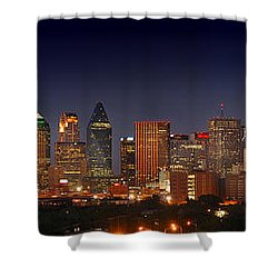 Dallas Skyline At Dusk  Shower Curtain