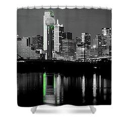 Dallas Skyline Gr91217 Shower Curtain