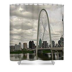 Dallas Suspension Bridge Shower Curtain