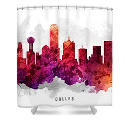 Dallas Texas Cityscape 14 Shower Curtain by Aged Pixel