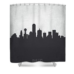 Dallas Texas Cityscape 19 Shower Curtain by Aged Pixel