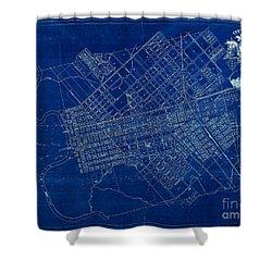 Dallas Texas Official 1875 City Map Blueprint Butterfield And Rundlett Shower Curtain