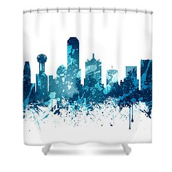 Dallas Texas Skyline 19 Shower Curtain