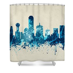 Dallas Texas Skyline 20 Shower Curtain by Aged Pixel