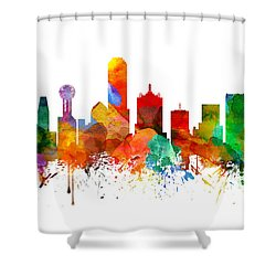 Dallas Texas Skyline 21 Shower Curtain by Aged Pixel