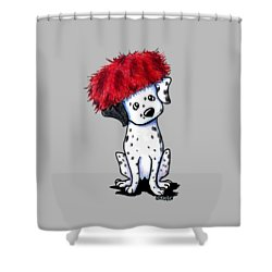 Dalmatian In Red Shower Curtain