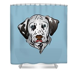 Dalmatian Portrait Shower Curtain by MM Anderson
