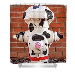 Dalmation Hydrant Shower Curtain by James Eddy