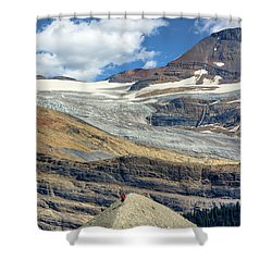 Daly Glacier And Yoho National Park Adventure Shower Curtain
