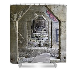 Shower Curtain featuring the photograph Dam Above Garwin Falls, Wilton, Nh by Betty Denise