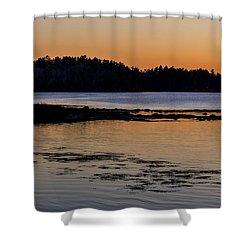 Damariscotta Twilight Shower Curtain by Tom Singleton