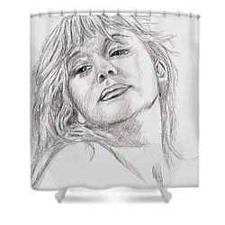 Dame Helen Mirren Shower Curtain