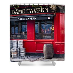 Dame Tavern Shower Curtain by Rae Tucker