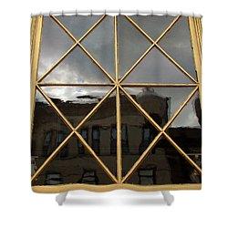 Damen Street Reflection Shower Curtain by Joanne Coyle
