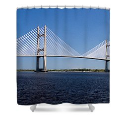 Dames Point Bridge Shower Curtain