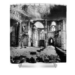 Dammarie Les Lys Abbey Shower Curtain by Simon Marsden