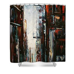 Damp And Cold Shower Curtain by Debra Hurd
