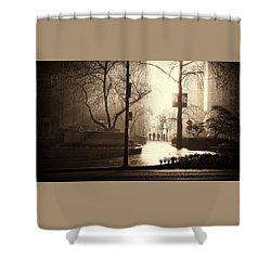 Damp Dawn Shower Curtain