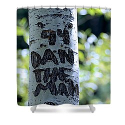 Dan The Man Shower Curtain by Eric Tressler