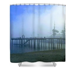 Dana Point Harbor When The Fog Rolls In Shower Curtain