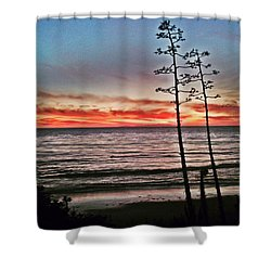 Dana Point Sunset Shower Curtain