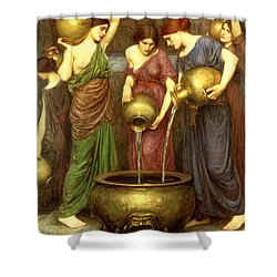 Danaides Shower Curtain by John William Waterhouse