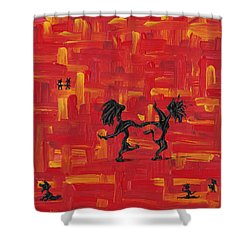 Dance Art Creation 3d9 Shower Curtain