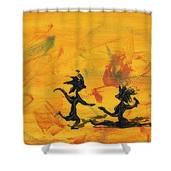Dance Art Dancing Couple 238 Shower Curtain