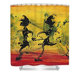 Dance Art Dancing Couple Viii Shower Curtain by Manuel Sueess