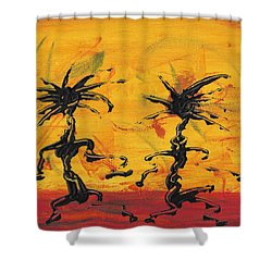 Dance Art Dancing Couple X Shower Curtain