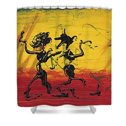 Dance Art Dancing Couple Xii Shower Curtain