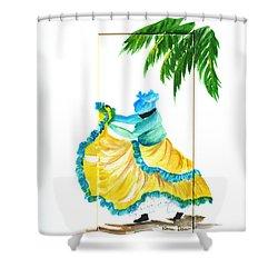 Dance De Belaire Shower Curtain by Karin  Dawn Kelshall- Best