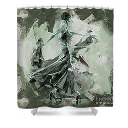 Shower Curtain featuring the painting Dance Flamenco Art  by Gull G