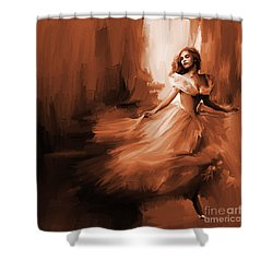Dance In A Dream 01 Shower Curtain by Gull G