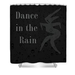 Dance In The Rain Shower Curtain by Kandy Hurley