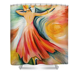 Dance Me To The End Of Time Shower Curtain by Itzhak Richter