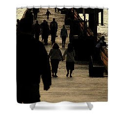 Dance Of Life - 2 Shower Curtain by Linda Shafer