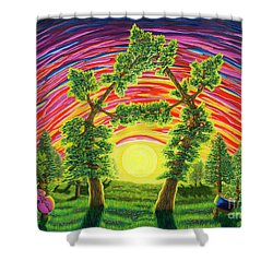 Dance Of Sunset Shower Curtain
