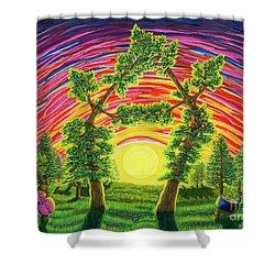 Dance Of Sunset Shower Curtain