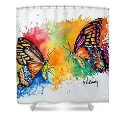 Dance Of The Butterflies Shower Curtain by Maria Barry