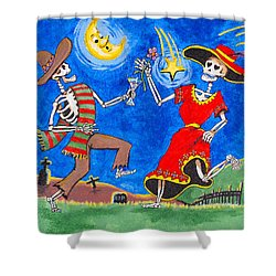 Dance Of The Dead Shower Curtain