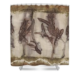 Dance Of The Eucalyptus Leaves Shower Curtain by Carolyn Doe