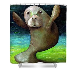 Dance Of The Manatee Shower Curtain